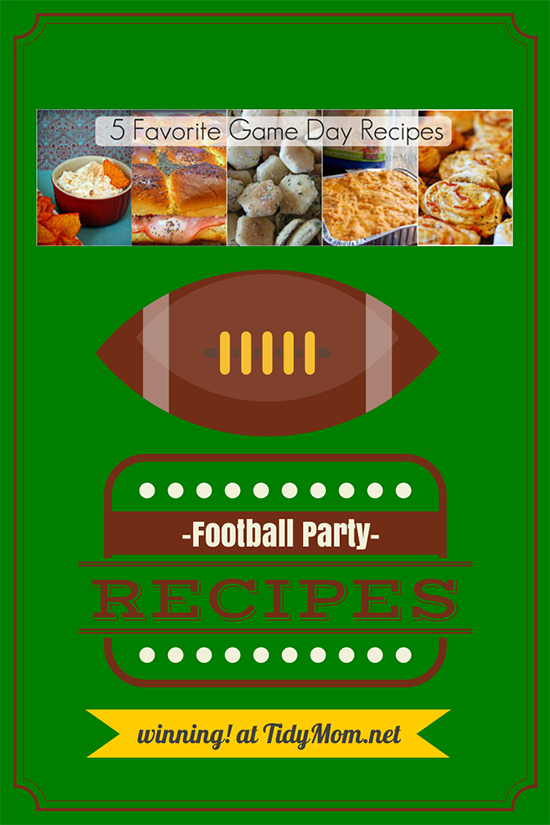 5 Favorite Game Day Recipes at TidyMom.net #superbowl #football #tailgaiting