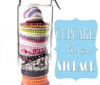 cupcake liner storage jar