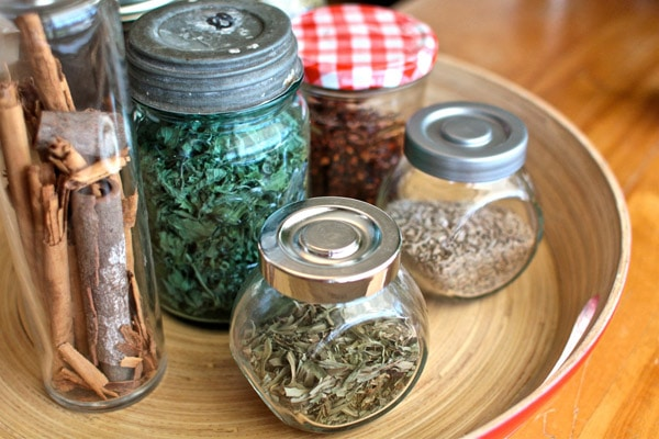 spices in jars
