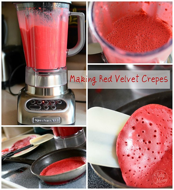 Making Red Velvet Crepes