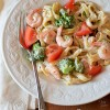 Shrimp &amp; Broccoli Fettuccine