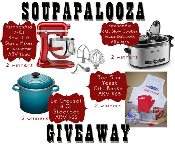 soupapalooza giveaway prizes