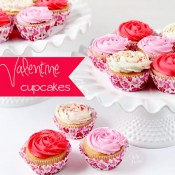 valentine rose cupcakes
