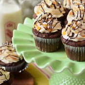 Bailey&#039;s Chocolate and Caramel Cupcakes