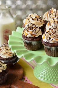 Bailey's Chocolate and Caramel Cupcakes