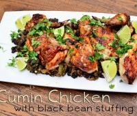 Cumin Chicken with Black Bean Stuffing