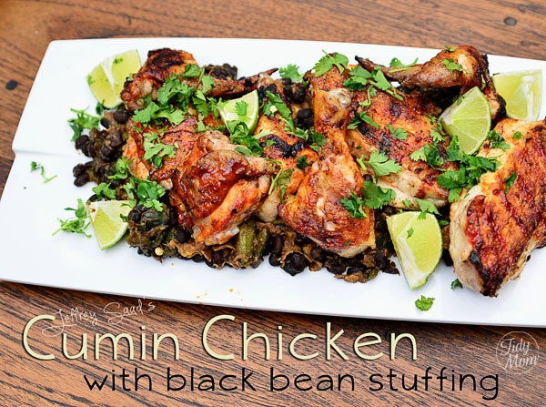 Cumin Chicken with Black Bean Dressing