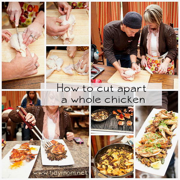 Cut apart a chicken with Jeffrey Saad and TidyMom