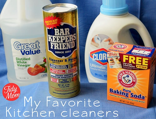 Favorite Kitchen Cleaners- TidyMom