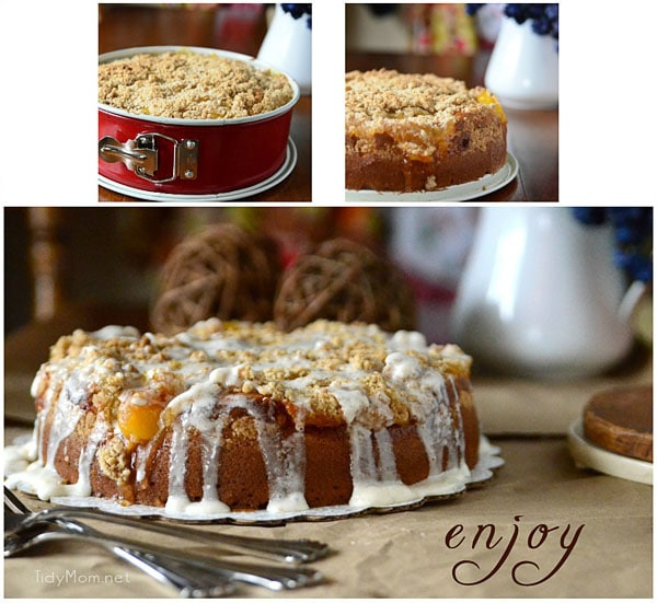 Peaches and Cream Coffee Cake how to