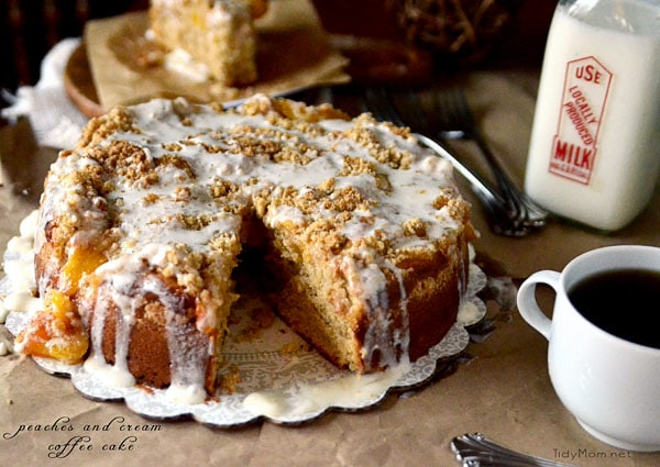 Peaches cream Coffee Cake 