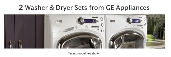 Spring Cleaning Challenge GE Appliances Washer and  Dryer
