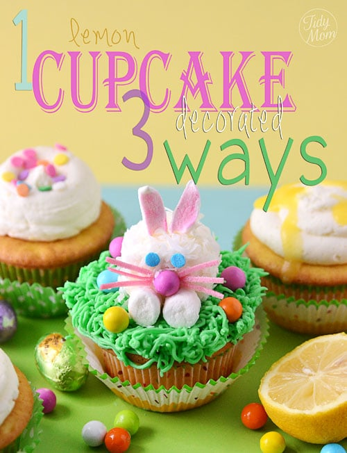 1 cupcake decorated 3 ways