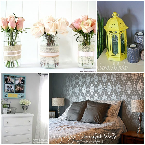 diy chalk paint at clean scentsible damask stenciled wall at