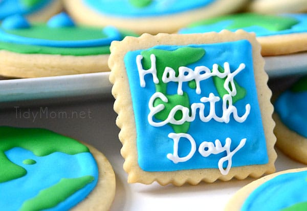 Happy Earth Day cookies-TidyMom