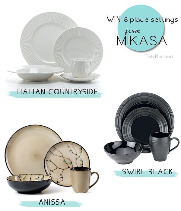 Mikasa Giveaway WIN 8 place settings from TidyMom