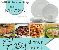 Mikasa Giveaway and Easy Dinner Ideas at TidyMom