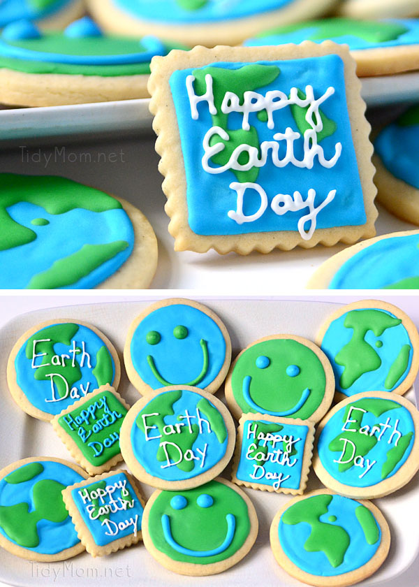 Happy Earth Day Cookies at TidyMom.net