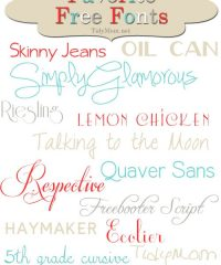 TidyMom Favorite Free Fonts