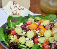cucumber tomato feta olive salad