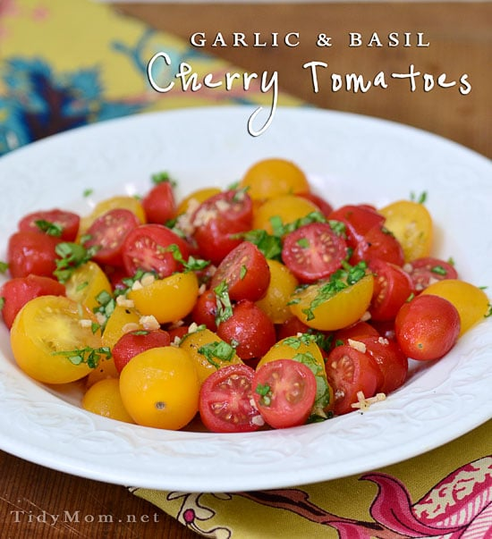 Garlic and Basil Cherry Tomatoes