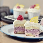 Black Raspberry & Lemon Ice Cream Cupcakes at TidyMom