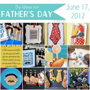 DIY Father's Day Ideas at TidyMom.net