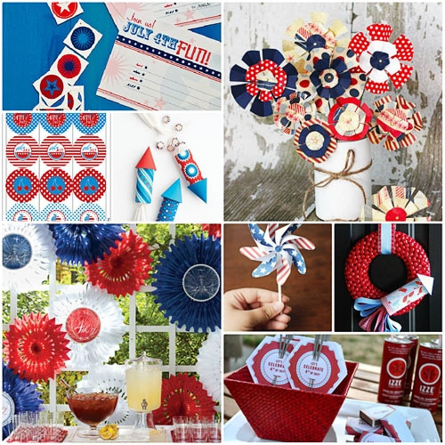 Forth of July decor and printables