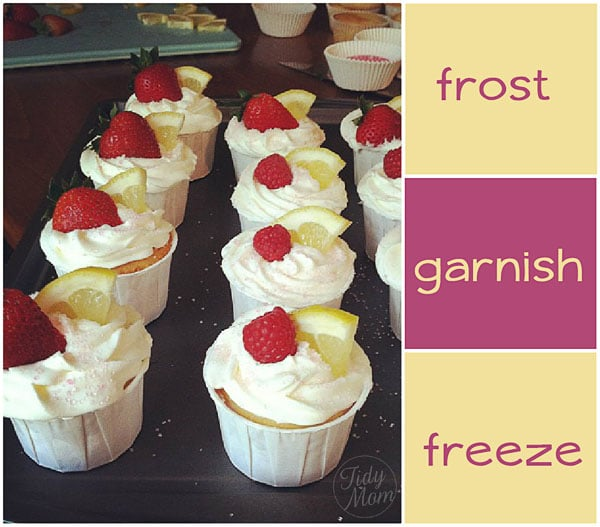 Ice Cream Cupcakes frost garnish freeze