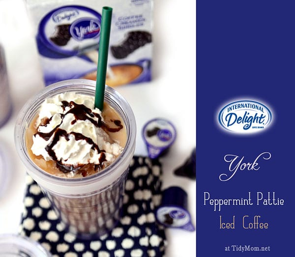 International Delight Peppermint Pattie Iced Coffee at TidyMom.net
