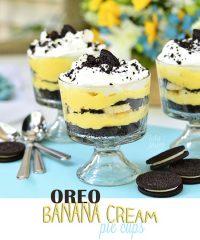 Oreo Banana Cream Pie Cups