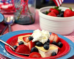 Patriotic Shortcake Ice Cream Sandwich