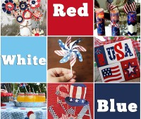 Red White and Blue Crafts at TidyMom.net