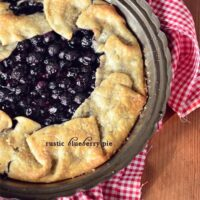 Rustic Blueberry Pie at TidyMom.net