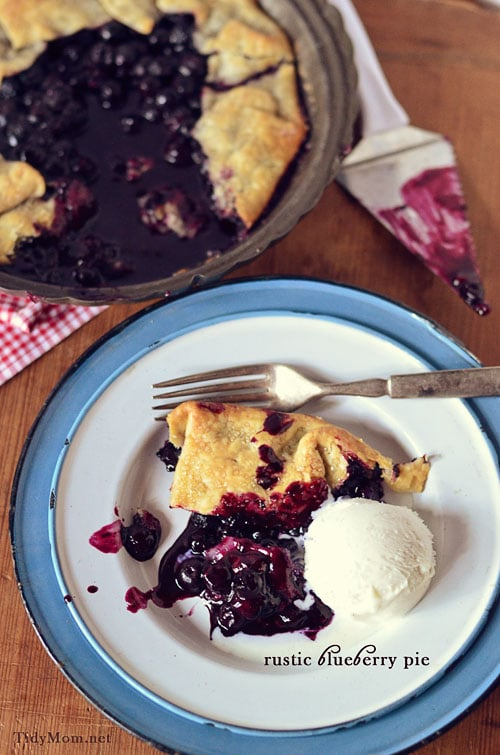 Slice of Blueberry Pie at TidyMom.net