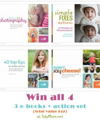 Win all 4 from Rebecca Cooper at TidyMom.net