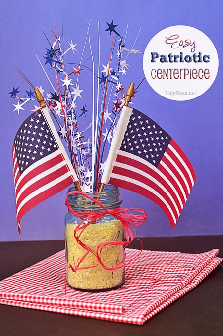 patriotic diy centerpiece