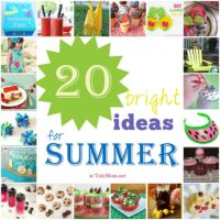 20 Bright Ideas for Summer at TidyMom.net