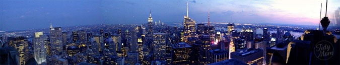 NYC skyline Top of the Rock Panorama at TidyMom.net