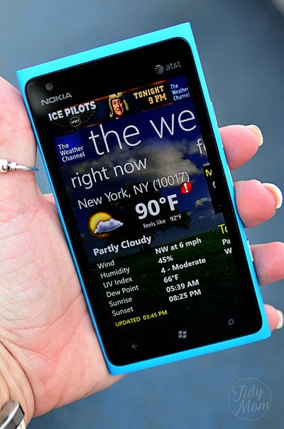 Weather on my Windows Phone