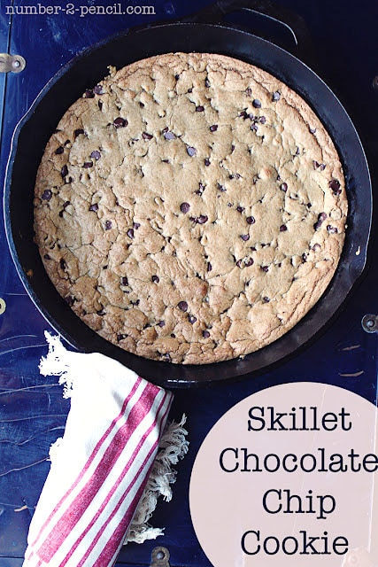 Skillet Chocolate Chip Cookie {Guest Post with No. 2 Pencil}