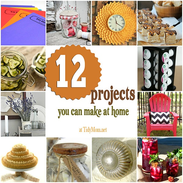 12 projects you can make at home