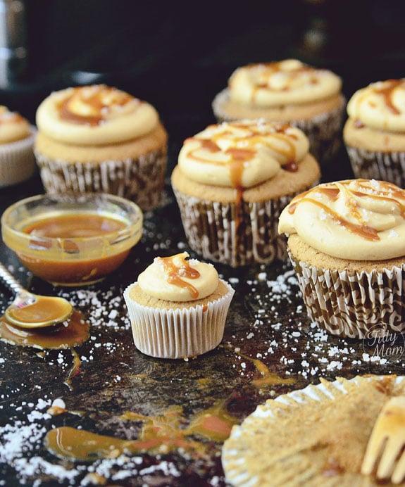 Salted Caramel Cupcake recipe TidyMom.net