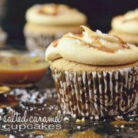 Salted Caramel Cupcakes at TidyMom.net