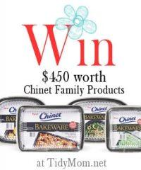 chinet bakeware Giveaway at TidyMom