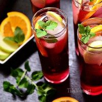 Apple Pomegranate Spritzers at TidyMom