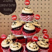 Coca Cola Cupcakes with Peanut Butter Frosting at Tidymom.net