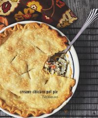 Easy Creamy Chicken Pot Pie recipe at TidyMom.net