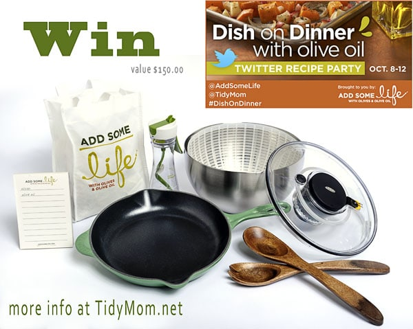 Dish on Dinner Recipe Party Giveaway at TidyMom.net week of Oct 8, 2012 #DishonDinner