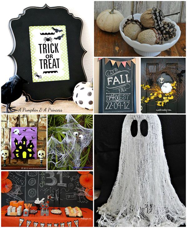 craft and decor ideas for Fall and Halloween at TidyMom.net